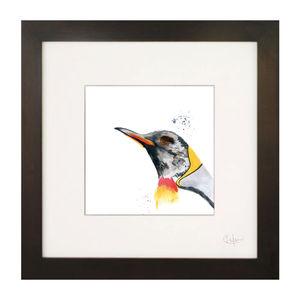 Inky Penguin Illustration Print