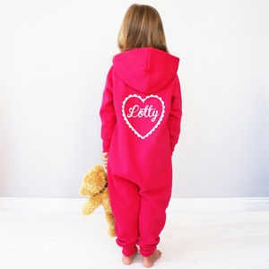 Personalised Kids Heart Onesie - babies' nightwear
