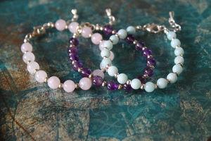 Semi Precious Stone Beaded Bracelet - women's jewellery