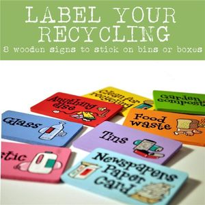 Recycling Bin Labels Special Clearance Offer - storage & organising