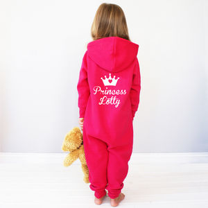 Personalised Kids Princess Onesie - nightwear