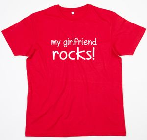 Girlfriend Or Wife Red T Shirt - men's fashion