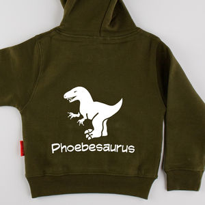 Child's Personalised Dinosaur Hoodie - children's jumpers