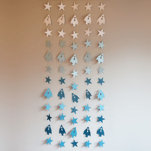 'Spaceships And Stars' Wall Hanging - mobiles