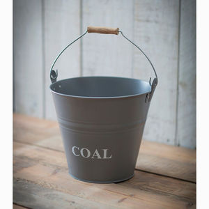 Fireside Coal Bucket In Charcoal