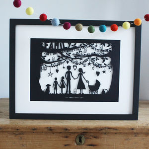 Family Papercut Or Print To Personalise - gifts for families