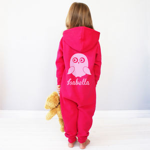 Personalised Kids Owl Onesie