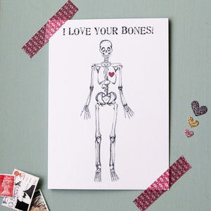 I Love Your Bones Valentines Card