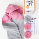 Ribbed Scarf Knitting Kit