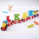 Wooden Name Train - toys & games