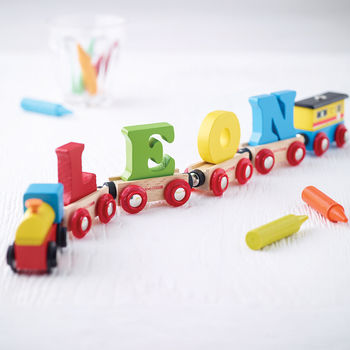 Wooden Name Train
