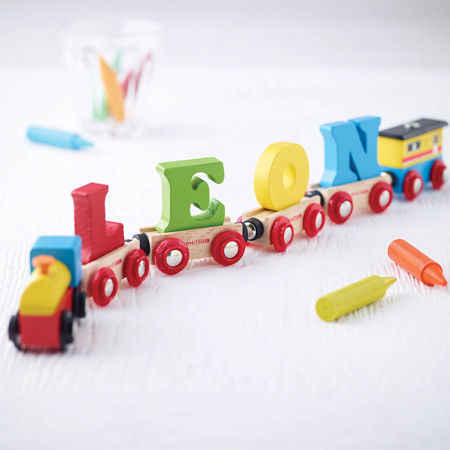 Wooden name train by letteroom notonthehighstreet wooden name train negle