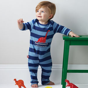 Personalised Dinosaur Babygrow - for under 5's