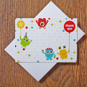 Monster Thank You Cards - invitations