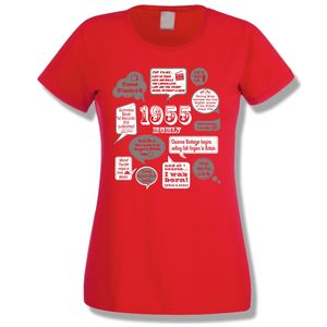 Events Of 1955 60th Birthday Ladies T Shirt