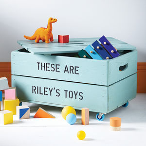 Personalised Toy Crate - toy boxes