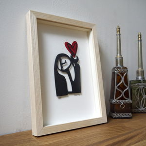 'Sigh' Personalised Mother's Day Papercut Portrait - contemporary art