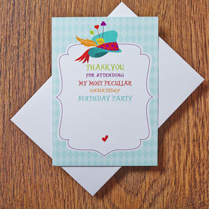 Mad Hatter Thank You Cards - invitations