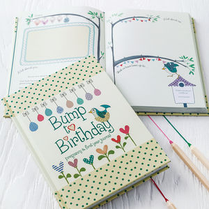 'Bump To Birthday' Journal - stationery sale