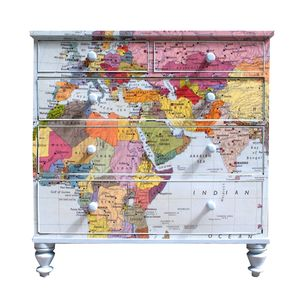 Map Chest Of Drawers - bedroom