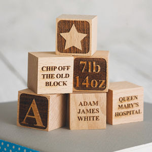 Personalised Baby Keepsake Building Block - winter sale