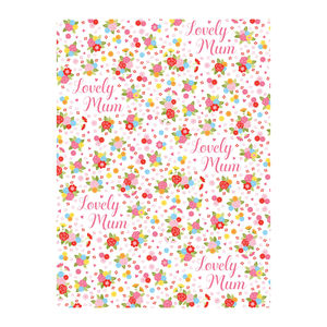 Special Mothers Floral Wrapping Paper - ribbon & wrap