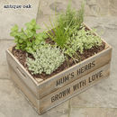 Personalised Large Crate With Herb Seeds