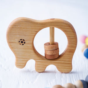 Organic Baby Elephant Rattle - baby care