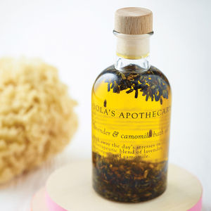 Lavender And Camomile Bath Oil - birthday gifts