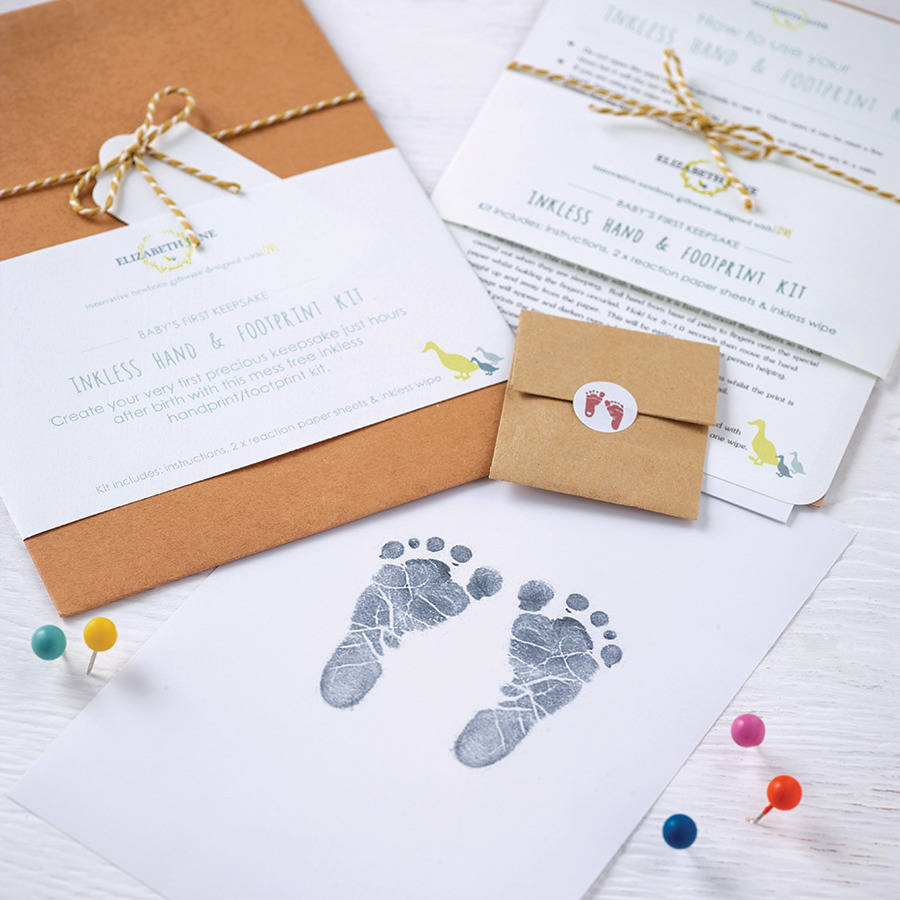 Gifts for new mums notonthehighstreet baby hand and foot inkless print kit negle Image collections