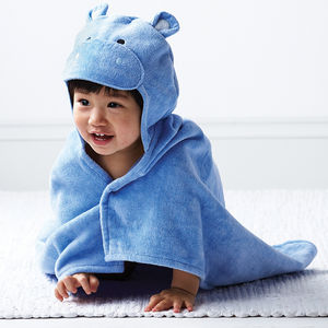 Baby Hippo Hooded Towel - bathtime