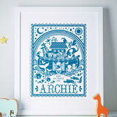 Personalised Noah's Ark Print - sale