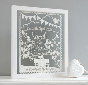 Personalised Wedding Or Anniversary Papercut - gifts for couples