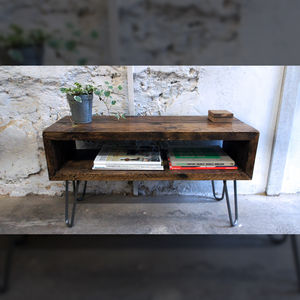 Scaffold Tv Unit With Hairpin Legs - living room