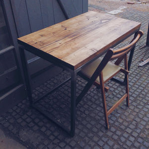 Scaffold Writing Desk With Welded Steel Frame - furniture