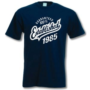 'Established 1985' 30th Birthday T Shirt - birthday gifts