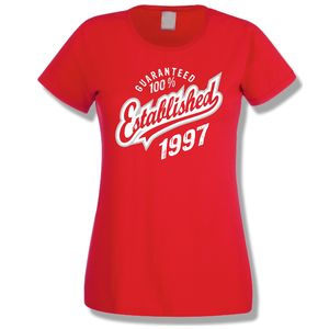 Established 1997 18th Birthday Ladies T Shirt - women's fashion