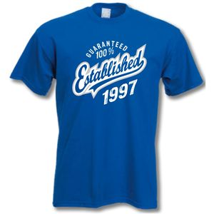 'Established 1997' 18th Birthday T Shirt - 18th birthday gifts