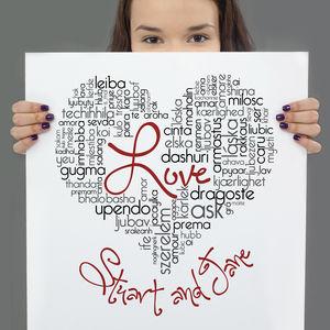 Personalised Love Typographic Art