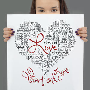 Personalised Love Typographic Art - new in valentine's day