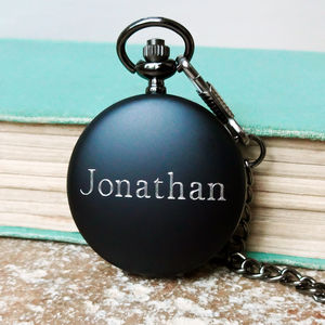 Pocket Watch With Personalised Engraved Name - men's jewellery