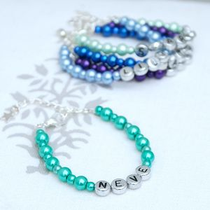 Child's Personalised Necklace Or Bracelet - christening gifts