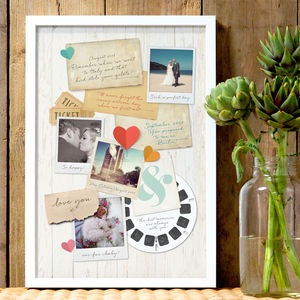 Personalised Memory Board Print - best wedding gifts