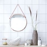 Round Copper Mirror - home