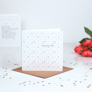 Bits Geometric Print Personalised Valentines Card - seasonal cards