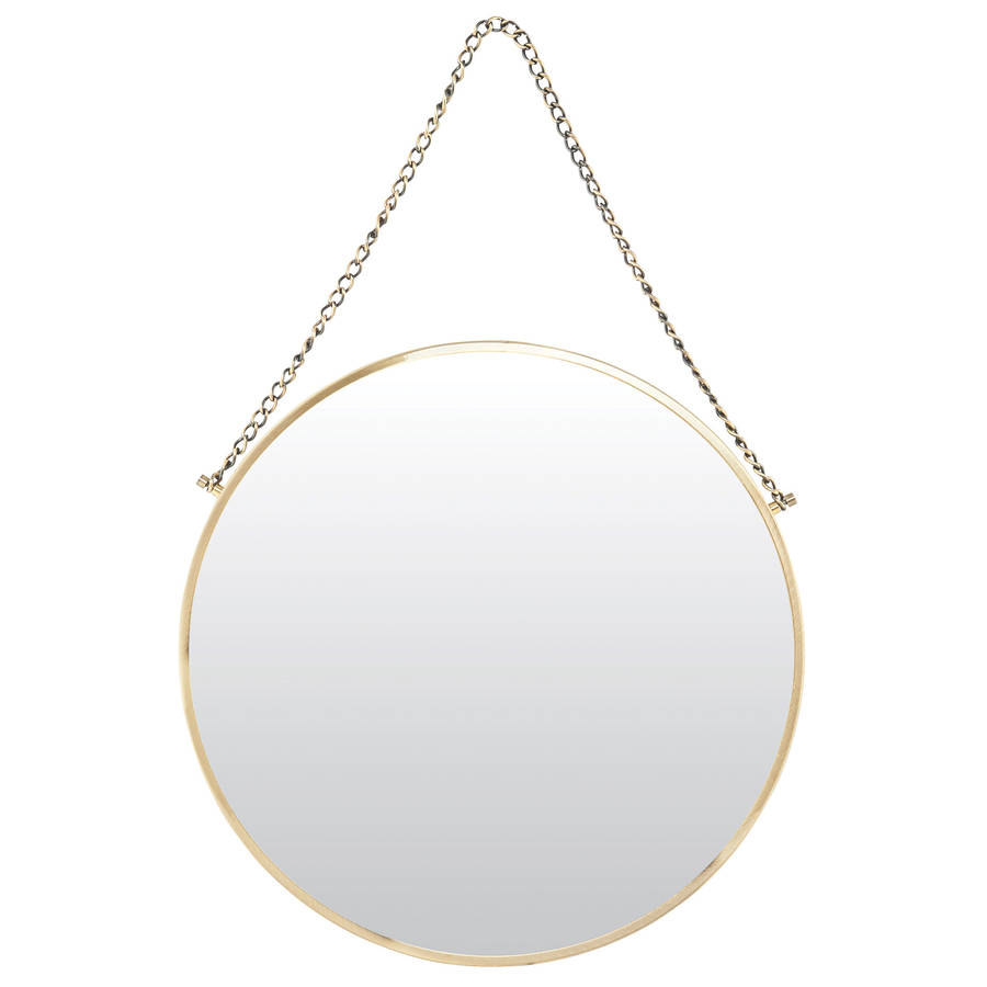 round brass mirror. round brass mirror by all things brighton beautiful