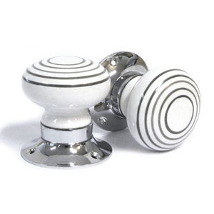 White Grey Stripe Internal Turning Mortice Door Knobs - home accessories
