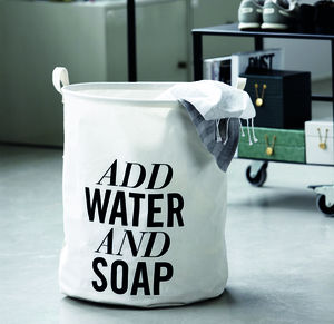'Add Water And Soap' Laundry Basket