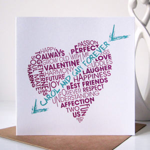 Personalised Cupids Arrow Card - personalised cards