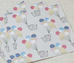 Vintage Theme Baby Elephant Party Paper Napkins - tableware